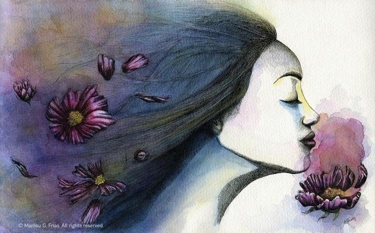 Silent Rush - ink, watercolor, watercolor - mgfrias | ello