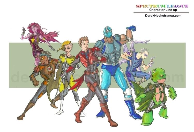 Spectrum League - character rou - dereknochefranca | ello