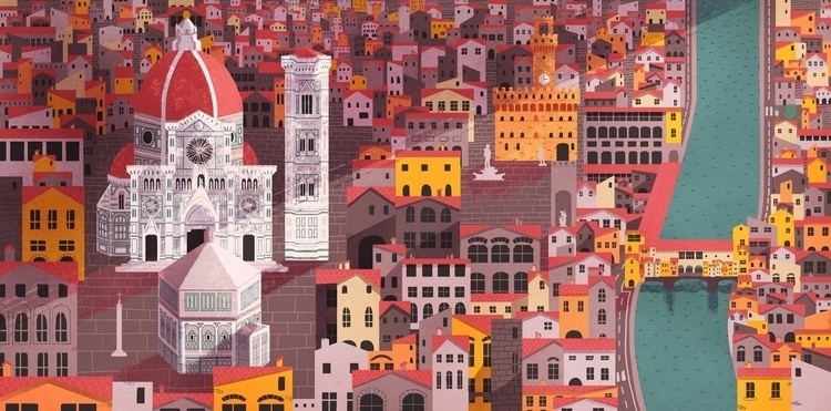 Map Florence - illustration, map - giuliaillustrator | ello