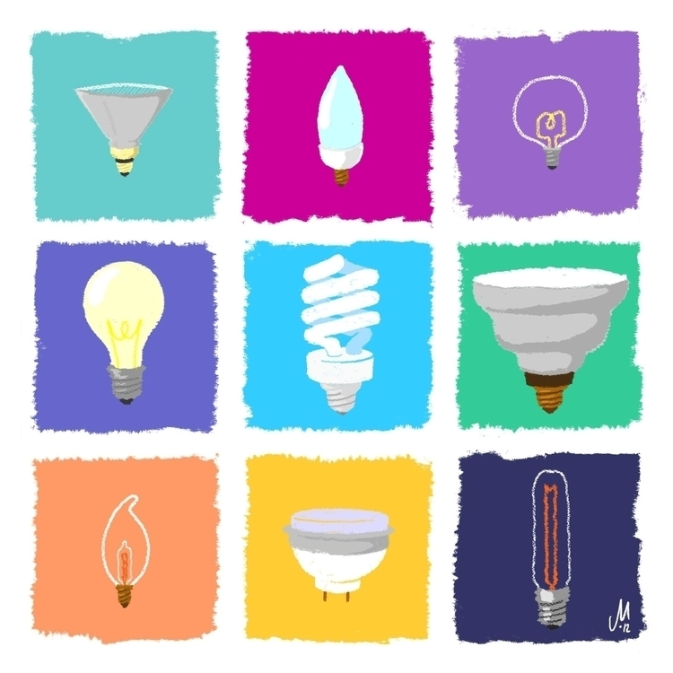 Light bulb study personal proje - justinmilgate | ello