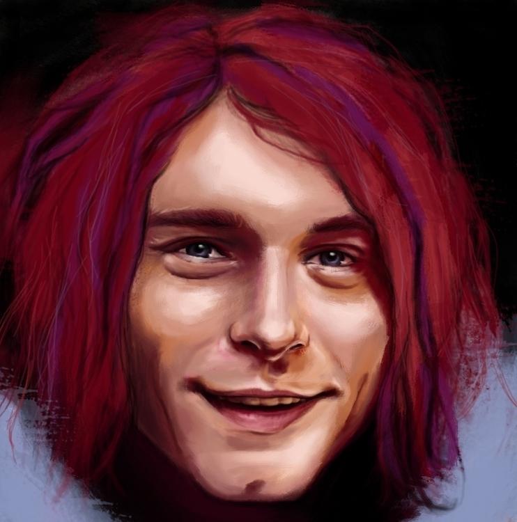 Kurt Cobain, Nirvana - illustration - annagosteva | ello