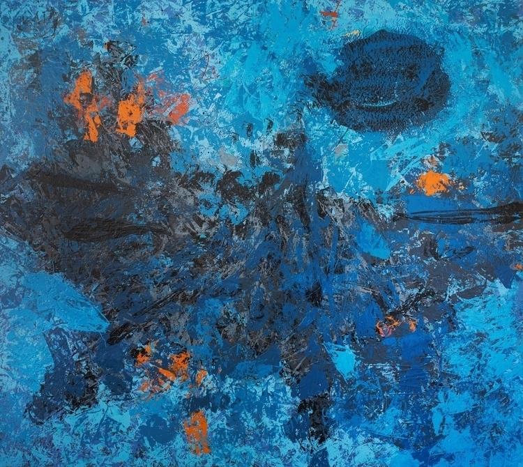 painting, blue, modern, contemporarypainting - anavrtacnik | ello