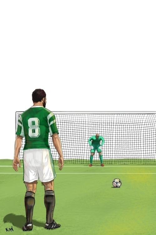 late 80s penalty - illustration - mahmoudswielam | ello