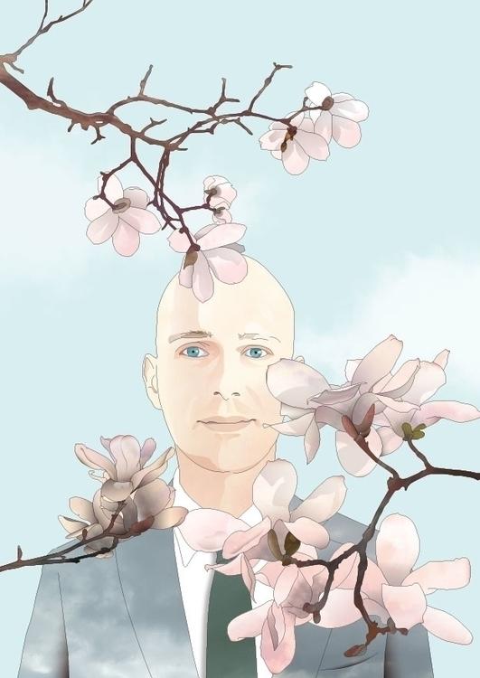 magnolia - illustration#digitalart#design#characterdesign#photoshop#painting#davisvrworks#drawing#conceptart - insukko   ello