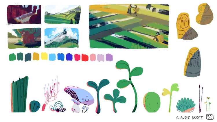 visdev small project part 2 - visualdevelopment - cloodiedraws | ello