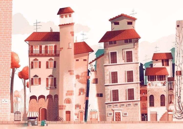 illustration, architecture, photoshop - giuliaillustrator | ello
