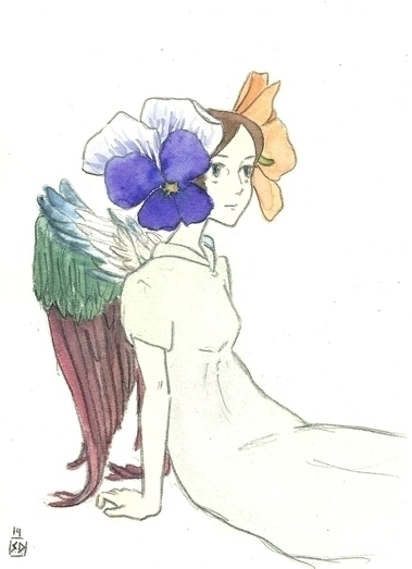 Pansy Angel - illustration, painting - serenedaoud | ello