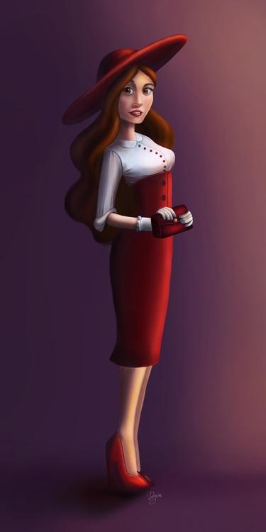 characterdesign, girl, digitalart - amdeguire | ello