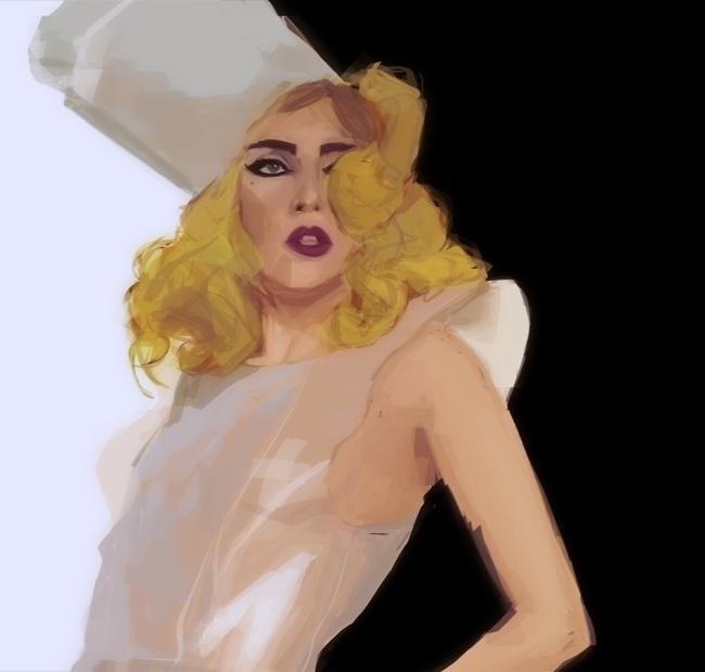 Lady Gaga - illustration, portrait - paperaffinity | ello