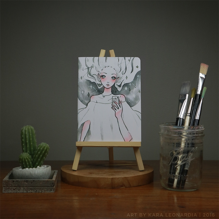 GALAXY - illustration, painting - renka002 | ello