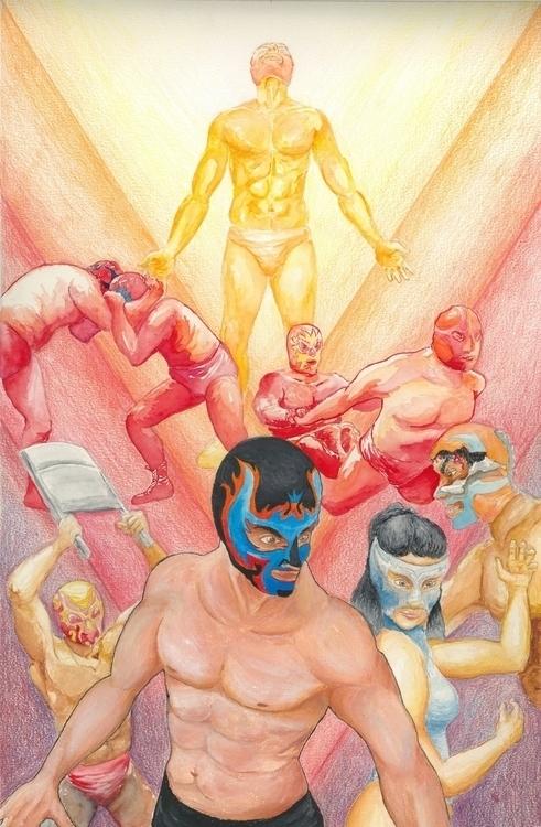 Lucha Libre painting sale al Lu - arteyperiodismo | ello