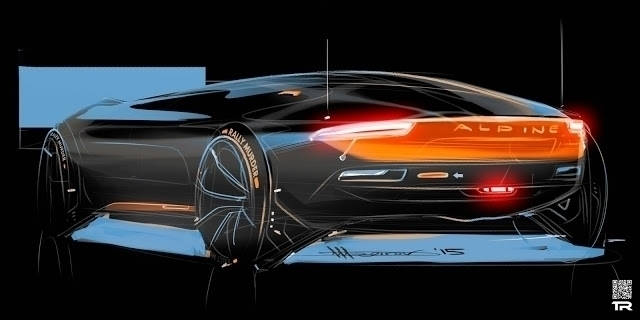 Alpine sketch - car, cardesign, cardesingcommunity - rash-3266 | ello