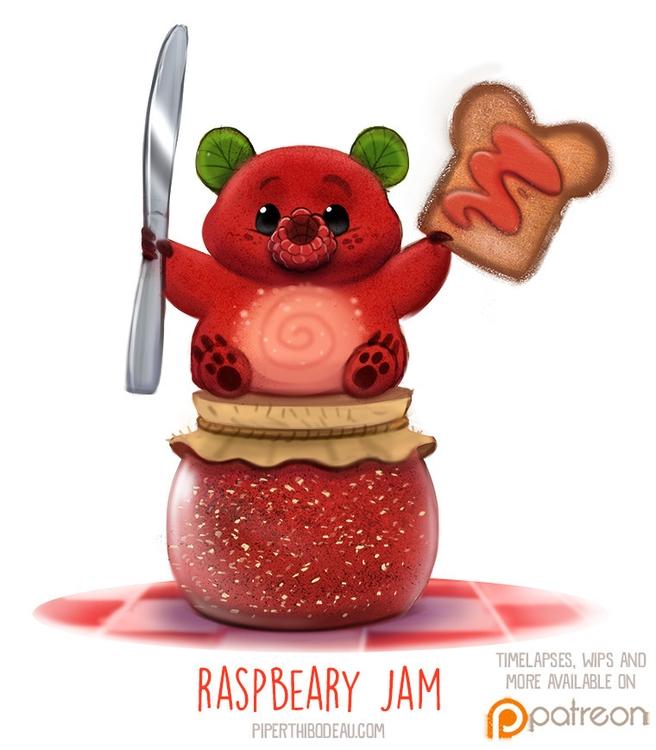 Daily Paint 1516. Raspbeary Jam - piperthibodeau | ello