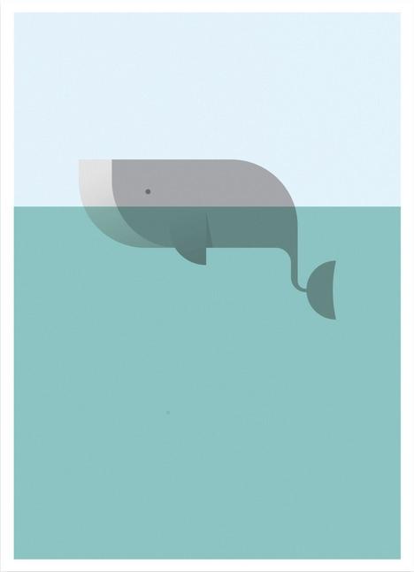 Whale - whale, ocean, illustration - andrearubele | ello