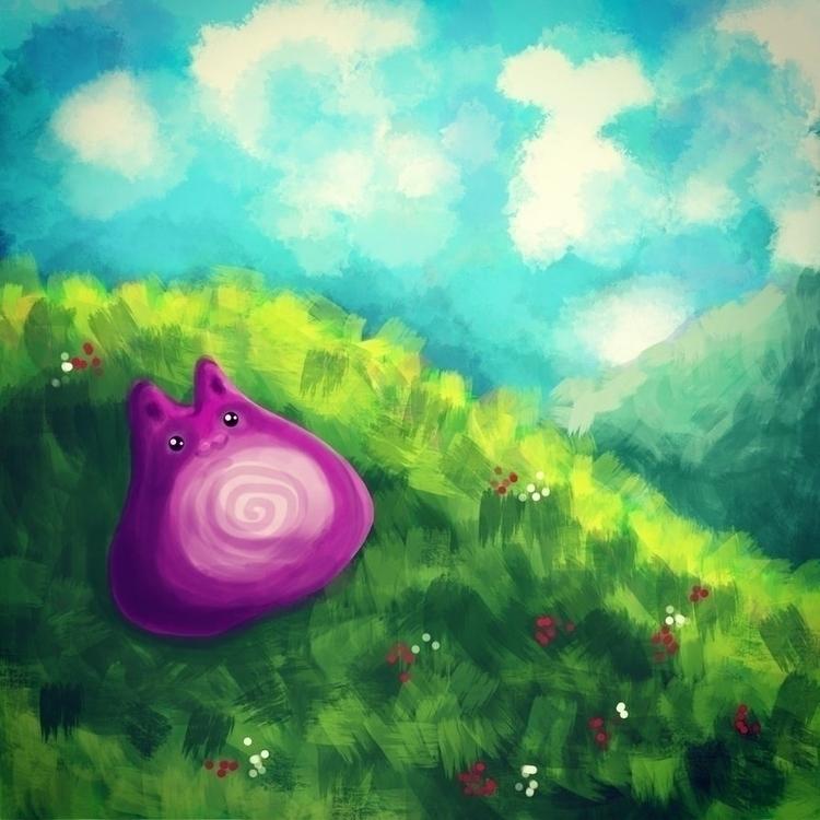dream - illustration, raster, cat - ololonycolophony | ello
