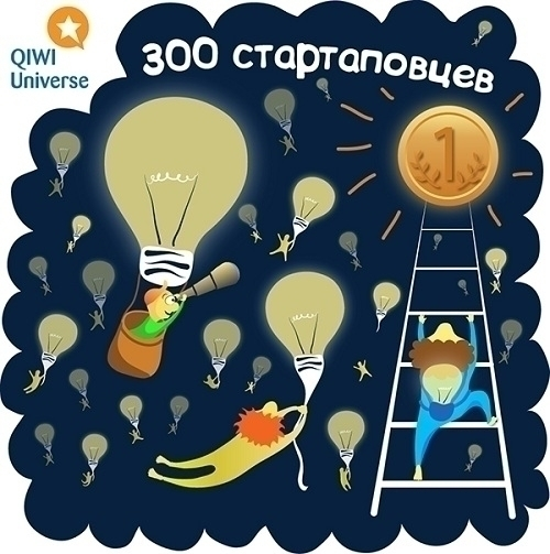 300 startupers - illustration, vector - ololonycolophony   ello