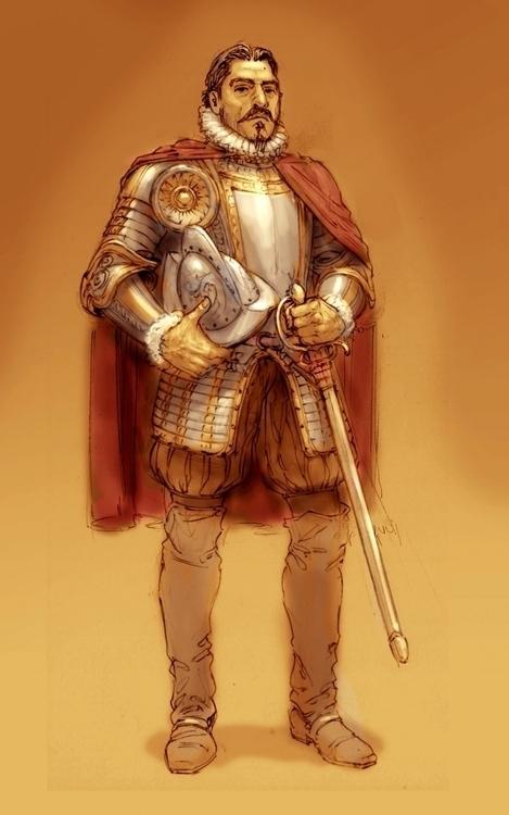 Pedro de Valdivia (Spaniard con - cristianmonteslynch | ello