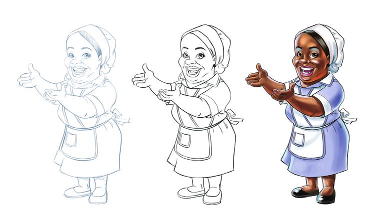 Esboços Mascote Start Quimica - illustration - netim | ello