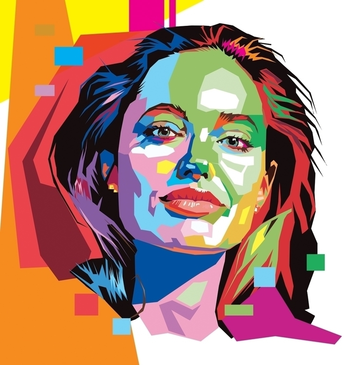 ilustração Angelina Julie - illustration - netim | ello