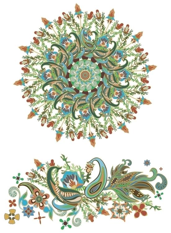 Illustration Indian motives - drawing - mariiakozina | ello