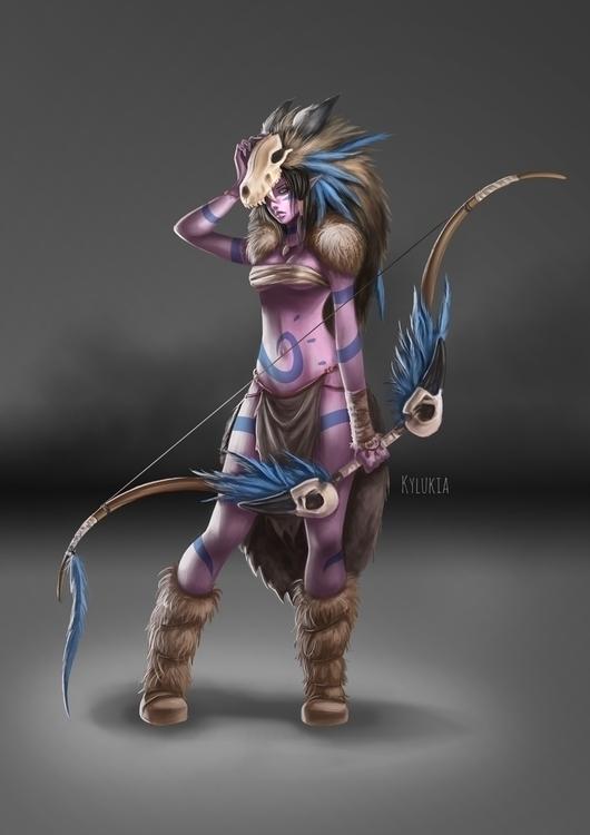 elf, fantasy, photoshop, warrior - kylukia | ello