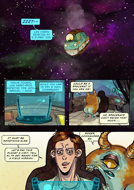 Space Janitor - space, comics - karina-3813 | ello