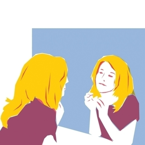 mirror - illustration, reflection - petica | ello