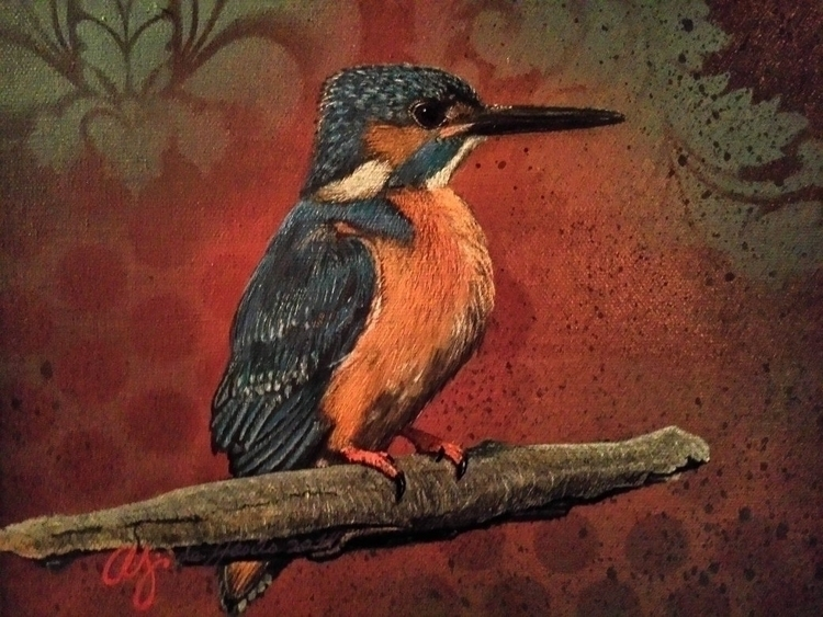 Kingfisher - Mixed media Abner  - colectiva_verde_luz | ello