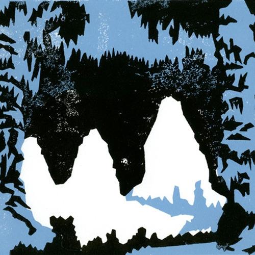 cave - linocut, linoleumprint, linoprint - petica | ello