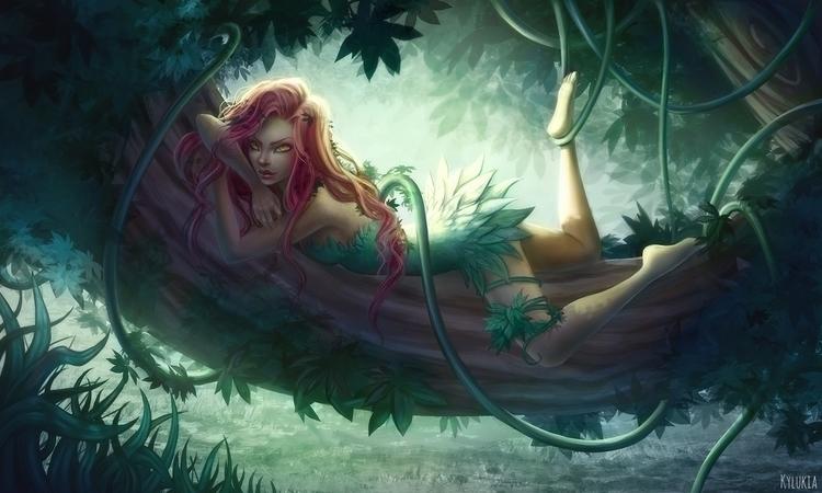 poisonivy, batman, forest, green - kylukia | ello