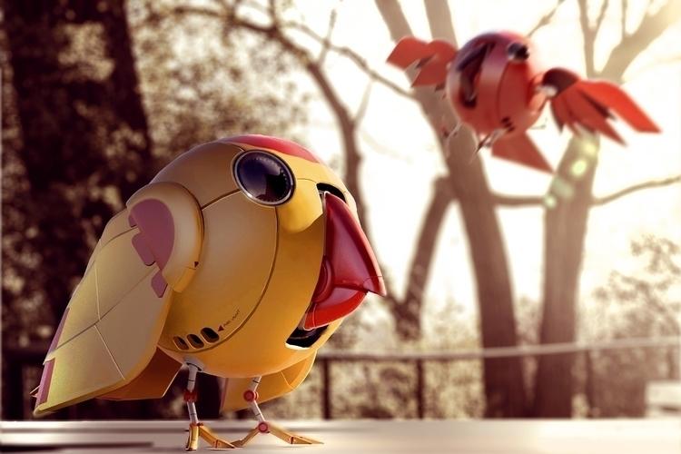 Robot birdies - yourizered | ello