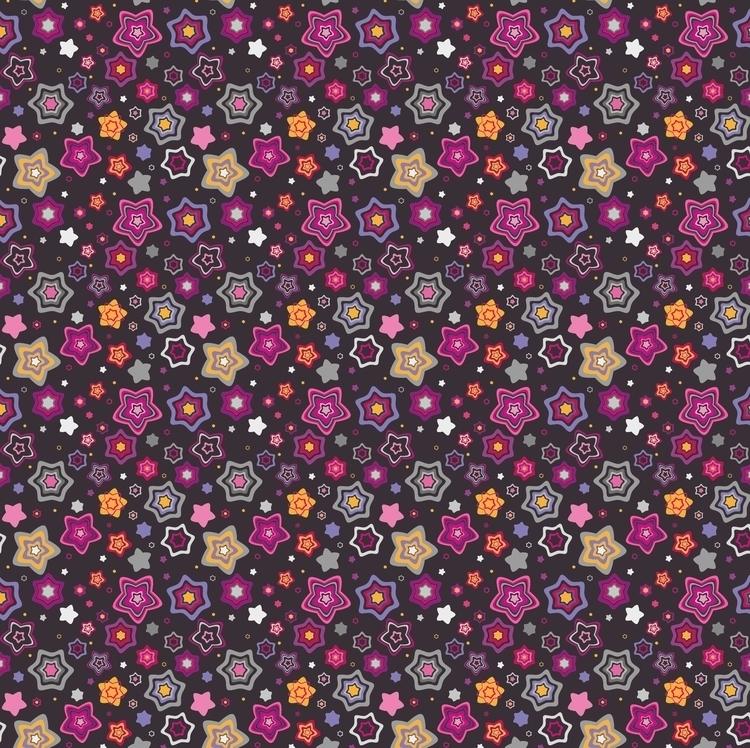Pink stars pattern - drawing, design - mariiakozina | ello