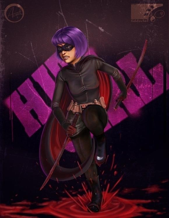 Hit Girl - Hitgirl, fanart, superhero - eddaviel   ello