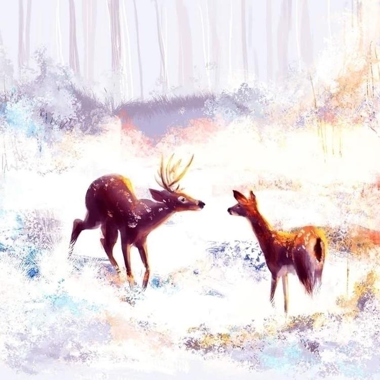 Deer Doe - illustration, characterdesign - agataszargot | ello