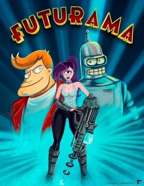 Futurama - illustration, fanart - eddaviel | ello