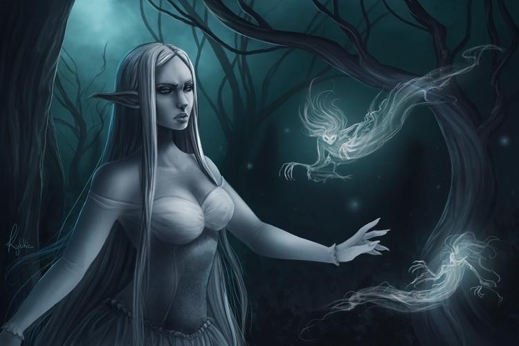 fantasy, ghost, illustration - kylukia | ello