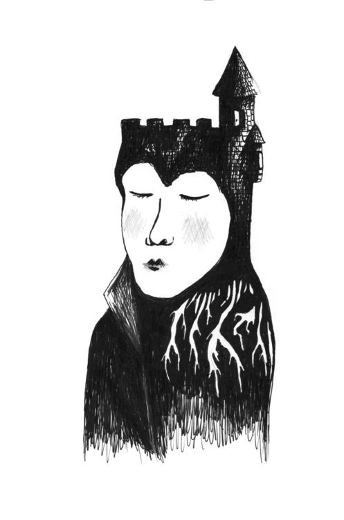 Castle - llioh - illustration, blackandwhite - llioh | ello