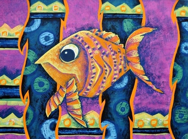 Illustration Exotic fish - illustration - mariiakozina | ello