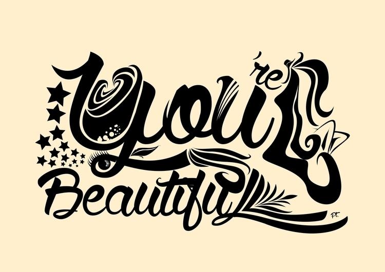 beautiful - pretty, vectorart, typography - artyp | ello