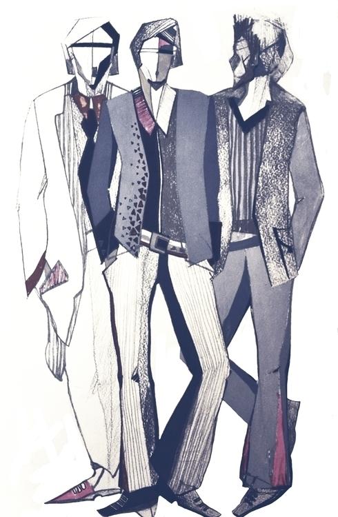 Pencil sketch Triad - drawing, illustration - mariiakozina | ello