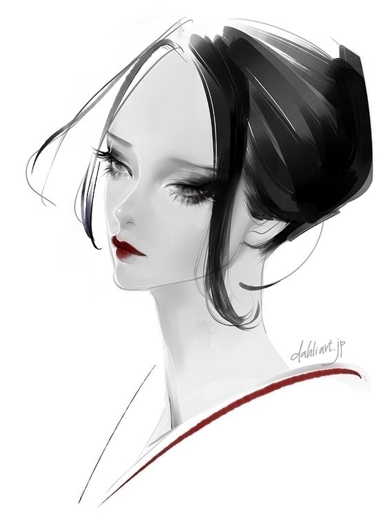 title - illustration, characterdesign - dahliart | ello
