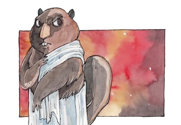 evil fire-wielding beavers anci - jkirkham | ello