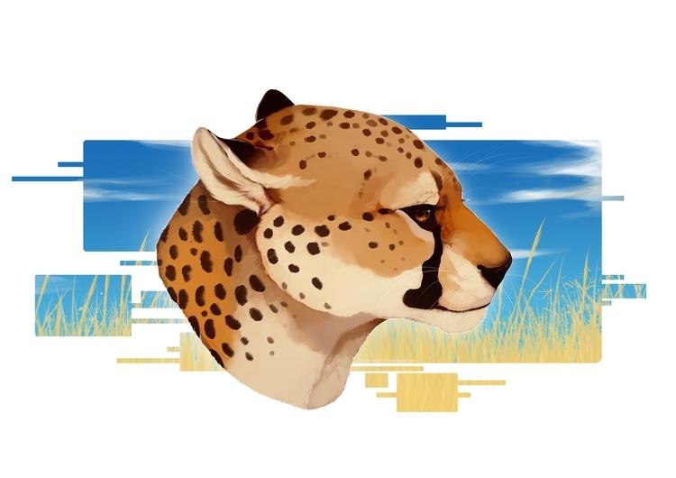remake video - cheetah, feline, painting - uru-1113 | ello