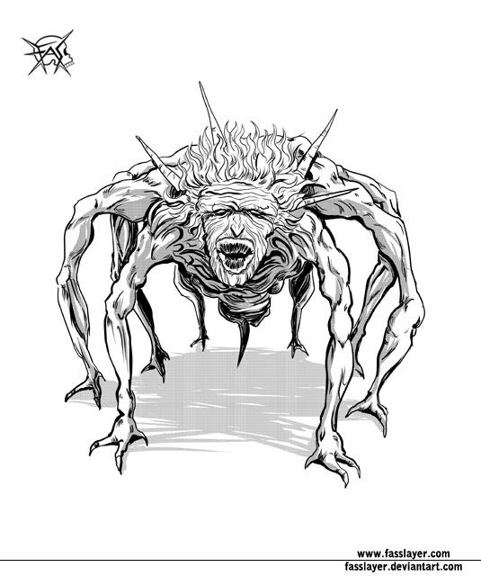 spider granny, digital drawing - fasslayer | ello