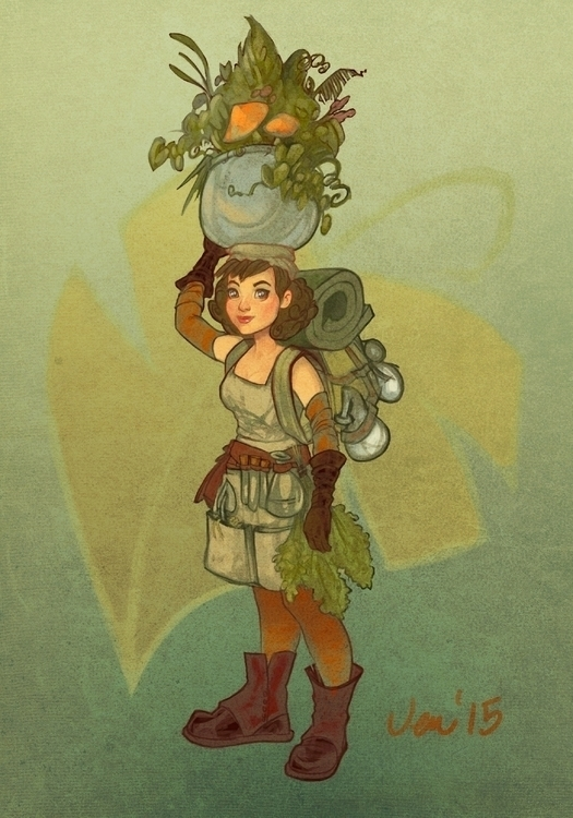 Herb/alchemist doodle - estirdalin | ello
