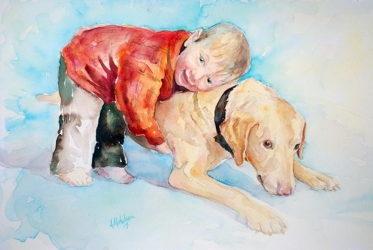 Gunner Russ - painting, portrait - brightspirit | ello