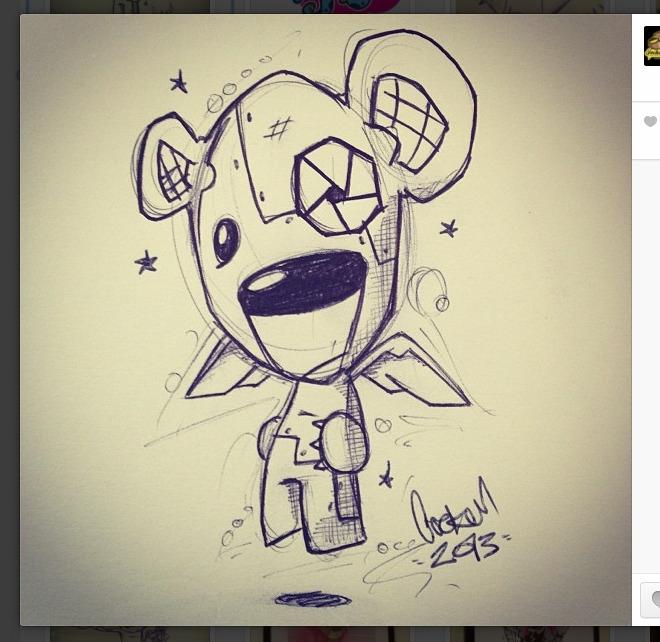 Robo-bear - sketch, sketchbook - inkedsloth | ello