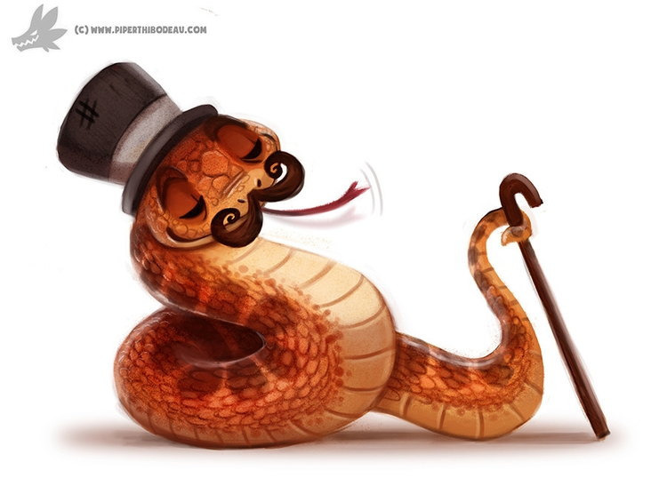 Daily Painting 902# Fancy Serpe - piperthibodeau | ello
