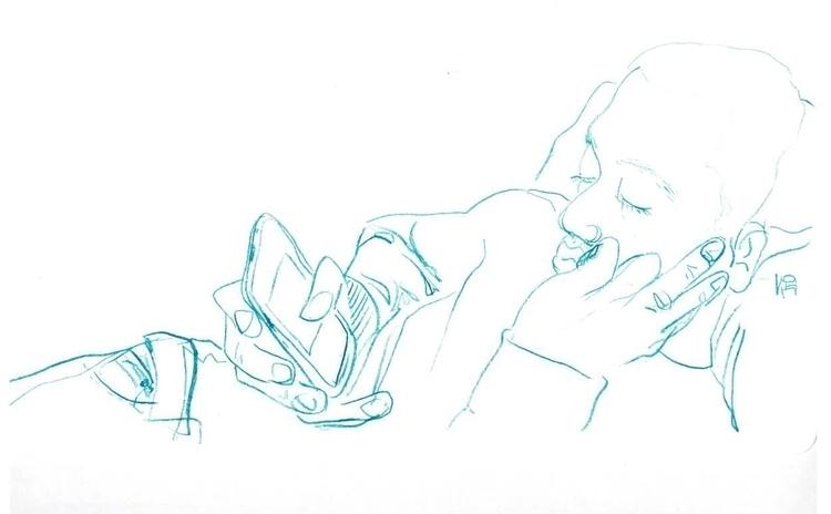 Chaz pencil drawing - illustration - lulu_baldrac | ello