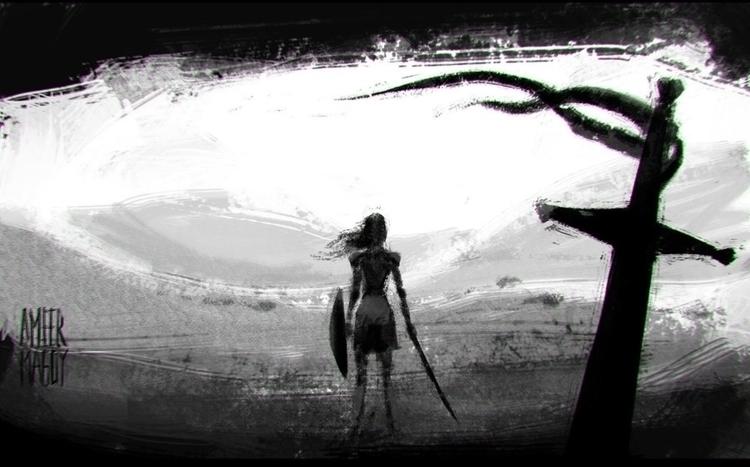 Random concept art - warrior, warriorgirls - ameermagdy | ello